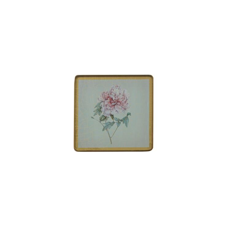 Square Coasters, Summer Flowers on Celedon   £23