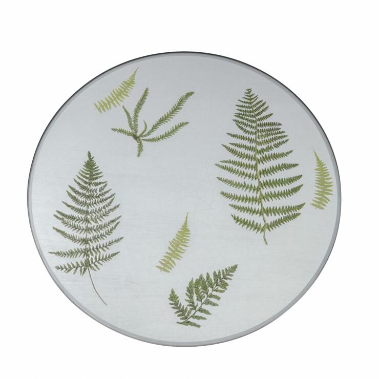 Centre Piece, Fern on silver leaf