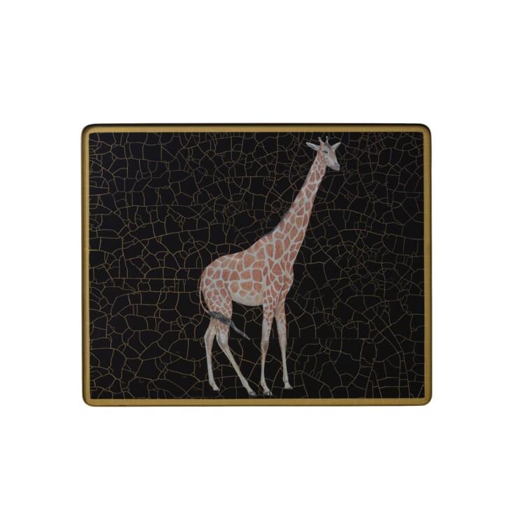 Small Tablemat, Giraffe on black
